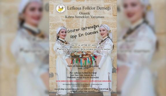 FOLK-DER Otantik Kıbrıs Yemekleri Yarışması