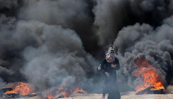 Gazze'de ABD Büyükelçiliği protestosu: 18 ölü