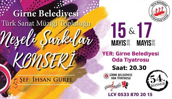 """Girne Belediyesi TSM Topluluğundan, """"Neşeli Şarkılar Konseri"""""""