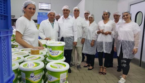 Karavezirler, süt ürünleri üreticilerini ziyaret etti