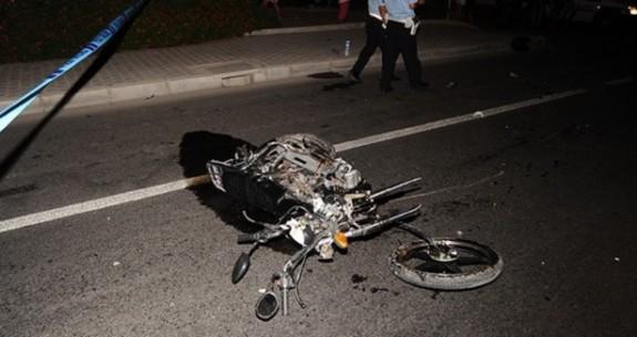 Motor kazasında bir kişi ağır yaralandı