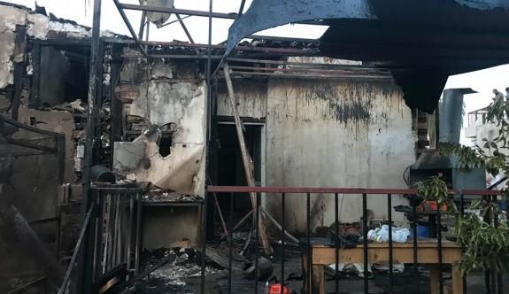 Surlariçi'nde korkutan yangın