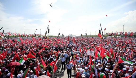 Yeni Kapı'da  500 bin kişiyle Filistin'e destek