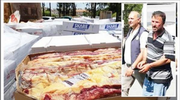 6 ton kaçak et