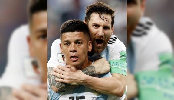 Arjantin son 16'ya kalmayı başardı