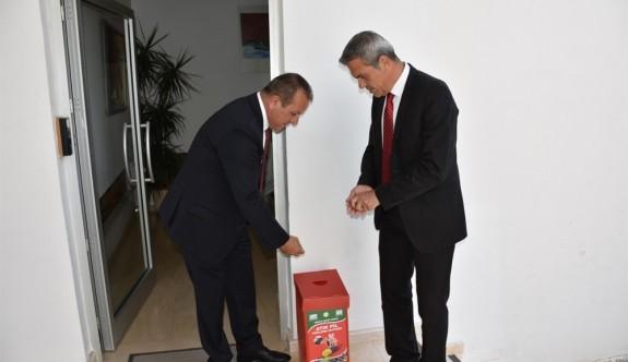 Atık pil toplama kutularının dağıtımına başlandı