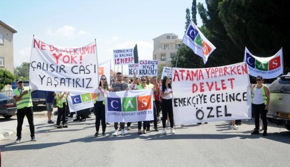 CAS çalışanlarının eylemi sona erdi