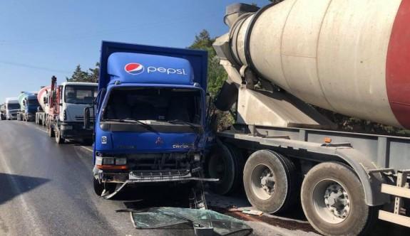 Dağ yolundaki kaza ucuz atlatıldı