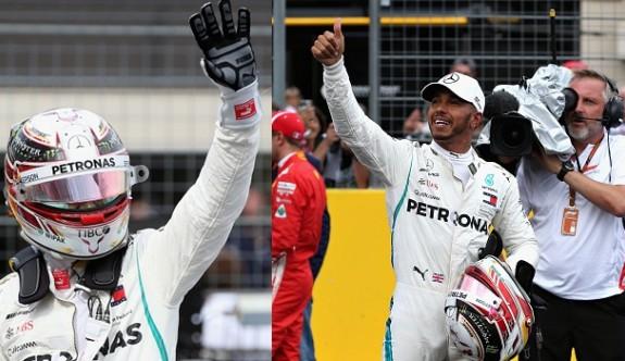 Fransa'da pole pozisyonu Hamilton'ın