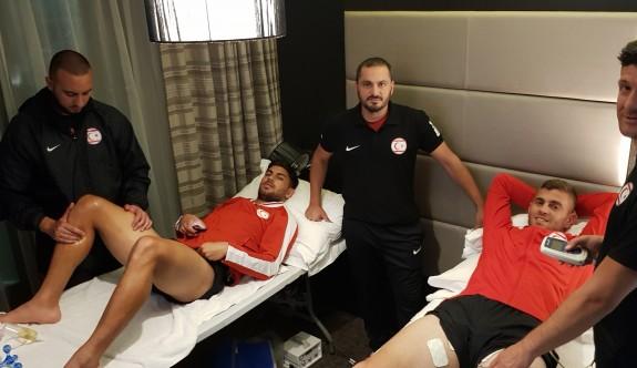 Futbolcularımızın sağlığı emin ellerde