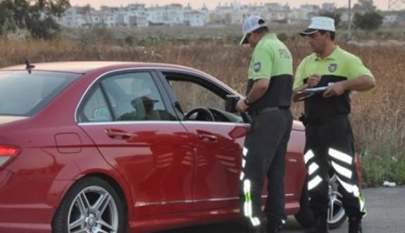 Mağusa'da asayiş ve trafik operasyonu