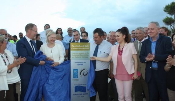 Tarihi Akkule Kara Kapısı açılış törenine yabancı diplomat akını
