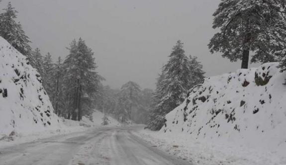 Trodos'ta Haziran'da kış görüntüsü