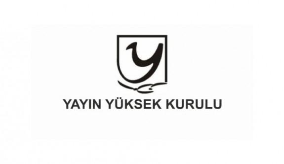 Yayın Yüksek Kurulu'ndan 4 TV kanalına uyarı birine para cezası