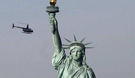 ABD'dedi Özgürlük Heykeli'nde protesto eylemi