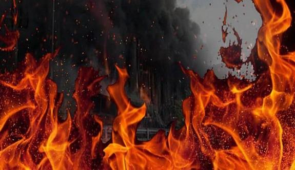 Alayköy'de çöplük alanda çıkan yangın ormana sıçradı