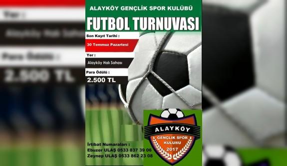 Alayköy'de para ödüllü turnuva