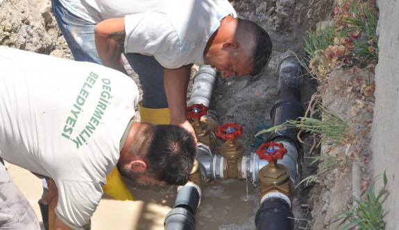 Değirmenlik bölgesinde su hatları yenileniyor