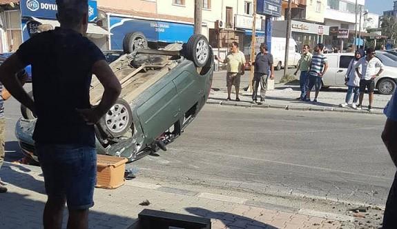 Dikkatsizlik ve alkollü sürüş kaza getirdi