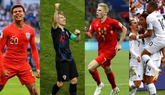 Dünya Kupası'nda 5. kez Avrupa yarı finali