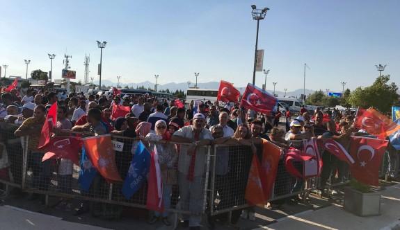 Ercan'da Erdoğan coşkusu