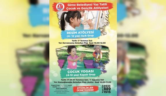 Girne Belediyesi  Resim Atölyesi ve Çocuk Yogası yarın başlıyor
