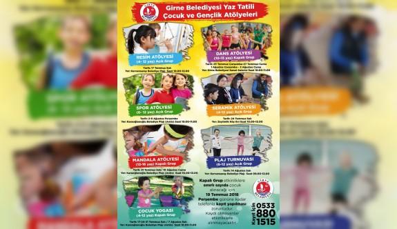 """Girne Belediyesinden """"Yaz Tatili Çocuk ve Gençlik Atölyeleri"""""""