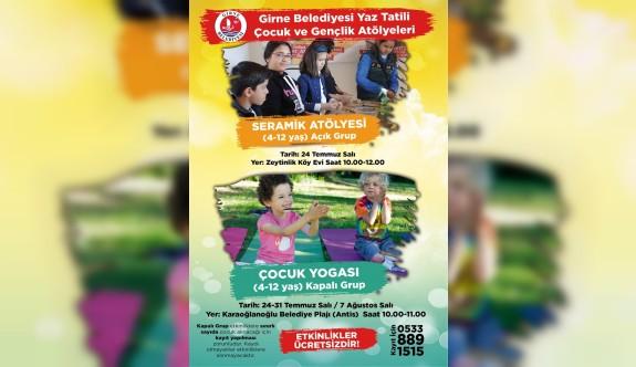 """Girne Belediyesi'nin """"Yaz Tatili Çocuk ve Gençlik Atölyeleri"""" devam ediyor"""