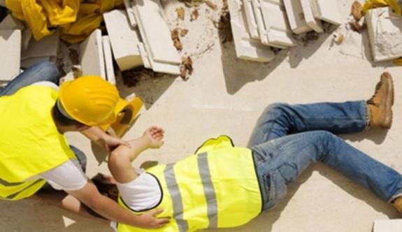Gönyeli'de inşaat kazası