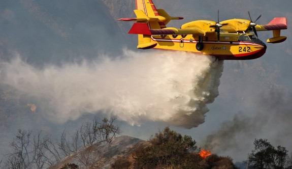 Güney'e iki yangın uçağı daha