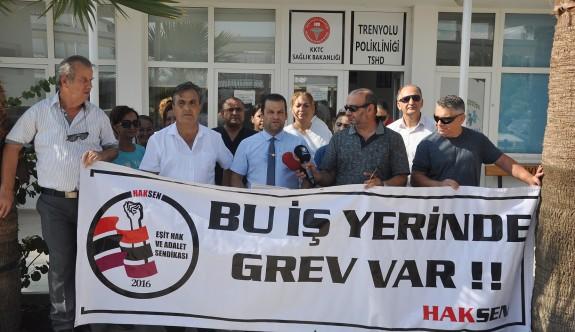 Hak-Sen'den Tren Yolu Polikliniği'nde 1 saatlik uyarı grevi