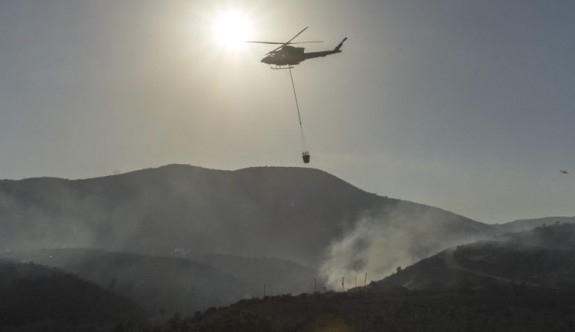 Limasol'da korkutan yangın