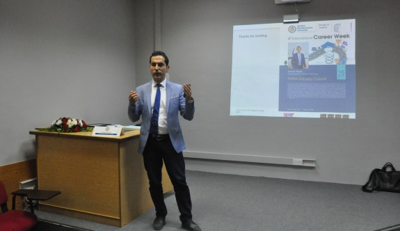 Lufthansa'nın Türkiye Genel Müdürü Kemal Geçer DAÜ'deydi