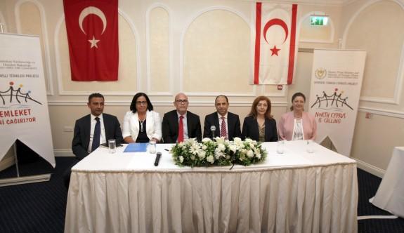 """Özersay, Londra'da """"Yurt Dışı Kıbrıslı Türkler Projesi""""nin lansmanını yaptı"""