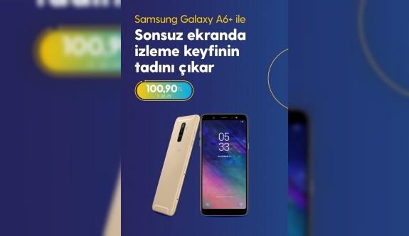 Sonsuz ekranı ile Samsung Galaxy A6 Plus  Kuzey Kıbrıs Turkcell'de
