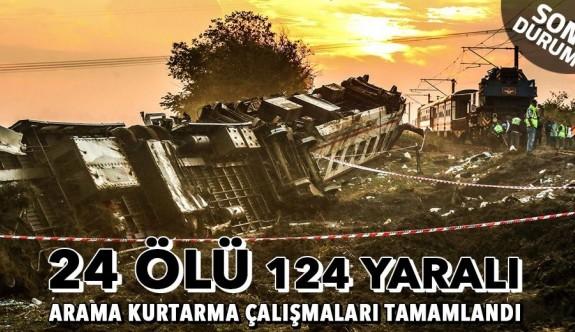 Tren kazasında ölü sayısı 24'e yükseldi