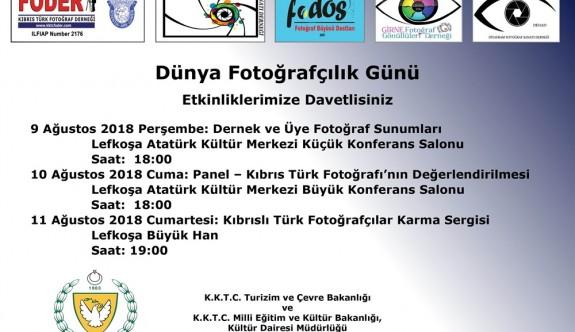 Dünya Fotoğrafçılık Günü farklı etkinliklerle kutlanacak