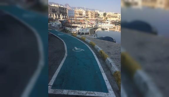 Girne Limanı'nda engelsizler için araç park yeri