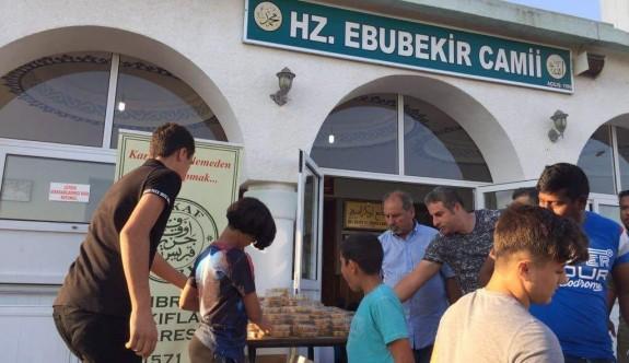 İhtiyaçlı ailelere kurban payı ve gıda yardımı yapıldı