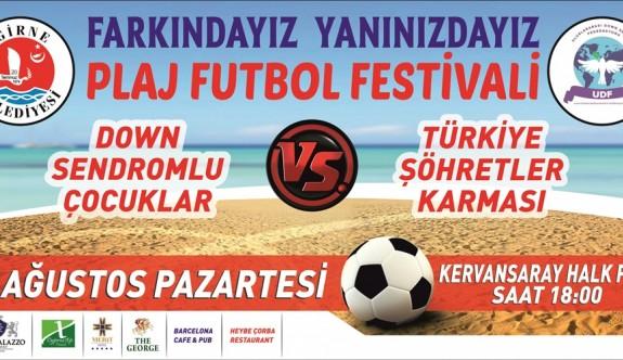 Kervansaray Plajı'nda özel maç