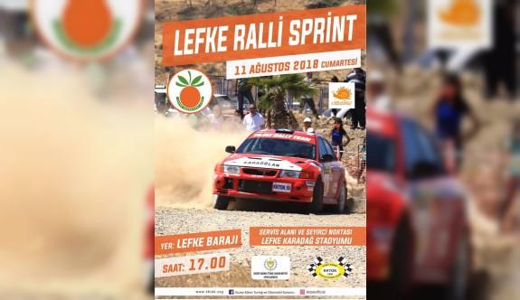 Lefke'de ralli heyecanı yaşanacak