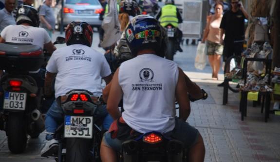 Motosikletli Rum gençler Metehan ve Lokmacı'da eylem yaptı