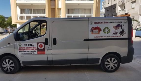 TC Lefkoşa Büyükelçiliği'nden Kanser Hastalarına Yardım Derneği'ne araç bağışı
