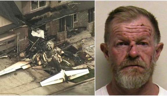 Uçakla evine çarparak intihar etti