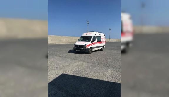 Yolcuların çıkması için ambulansa sahte ihbar iddiası