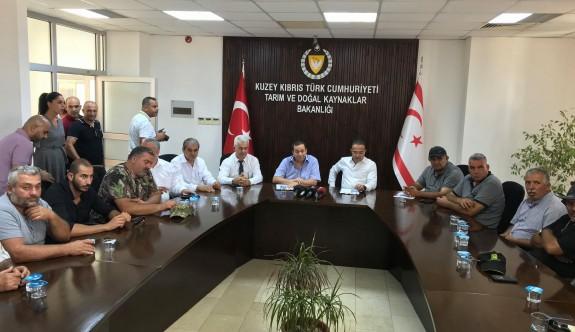 Hayvancılar Tarım Bakanı ve Maliye Bakanının da katıldığı toplantı sürüyor