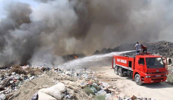 İskele çöplüğünde korkutan yangın