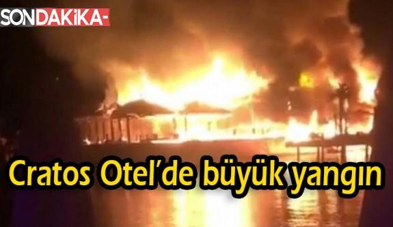 SON DAKİKA: Cratos Otel'de büyük yangın