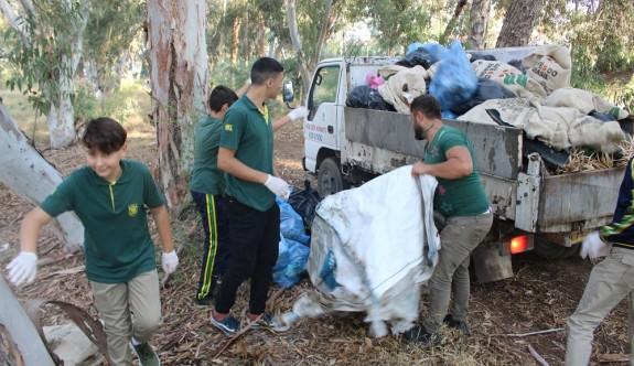 Ayluga Gölet'nde çevre temizliği yapıldı