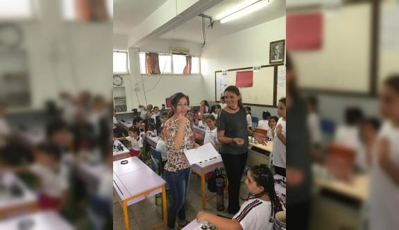 Çatalköy İlkokulu'nda satranç heyecanı yaşandı